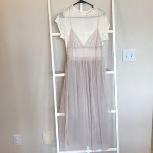 Dresses & Skirts - Lauren Conrad tulle tshirt maxi dress medium